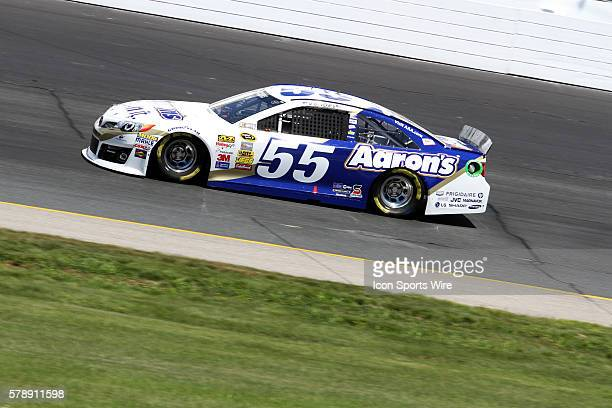 Brian Vickers during practice for the Sprint Cup Series Camping World RV Sales 301 at New Hampshire Motor Speedway in Loudon, NH.