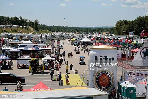 The fan zone during practice for the Camping World RV Sales 301 at New Hampshire Motor Speedway in Loudon NH