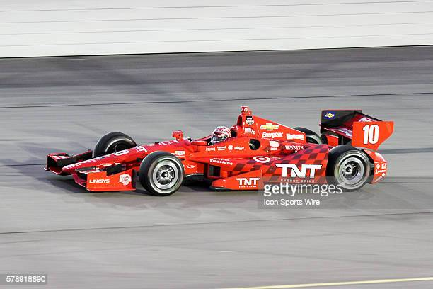 IndyCar Driver Tony Kanaan during the running of the Iowa Corn Indy 300 presented by DEKALB at Iowa Speedway in Newton IA