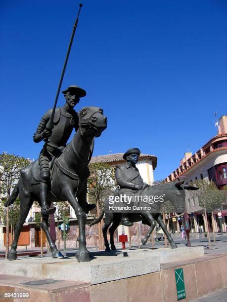 July 13 2005 Alcazar de San Juan Ciudad Real Monument to Don Quixote and Sancho Panza