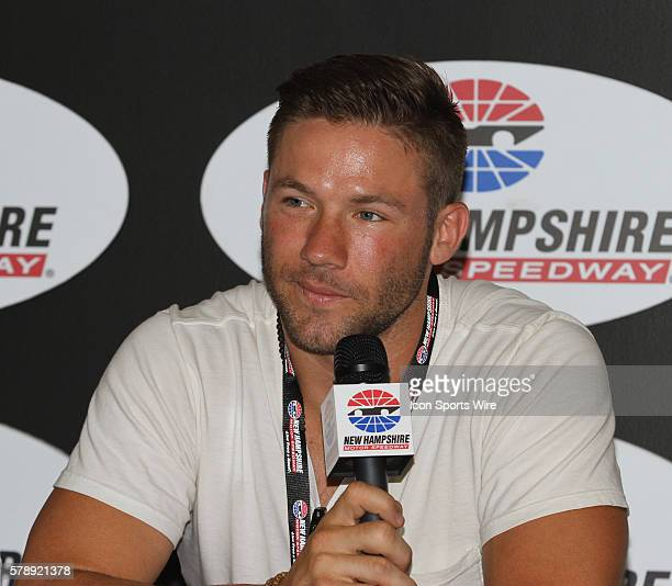 Julian Edelman, Patriots Wide Receiver, and honorary pace car driver for the Sprint Cup Series Camping World RV Sales 301 at New Hampshire Motor...