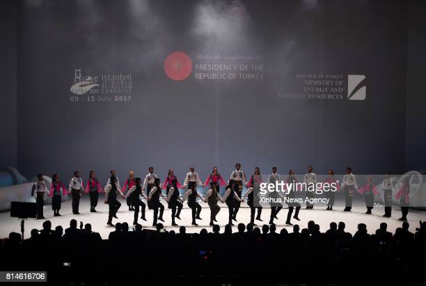 ISTANBUL July 13 2017 Dancers perform at the closing ceremony of the 22nd World Petroleum Congress in Istanbul Turkey on July 13 2017 The 22nd World...
