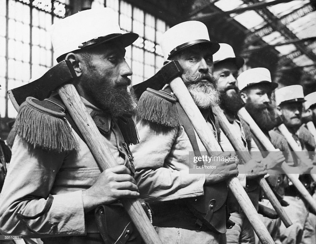 Members of the French Foreign Legion arriving in Paris for a Bastille Day parade.