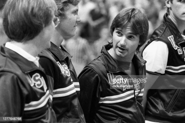 Davis Cup player Jimmy Conners attends Davis Cup at The OMNI Coliseum in Atlanta Georgia, July 14,1984 (Photo by Rick Diamond/Getty Images