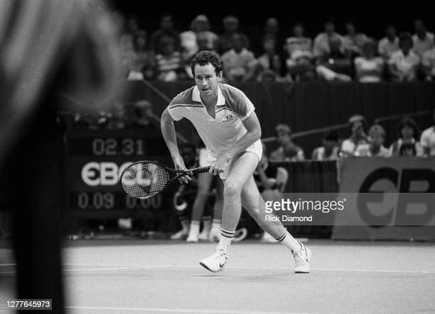 Davis Cup player John McEnroe attends Davis Cup at The OMNI Coliseum in Atlanta Georgia, July 14,1984 (Photo by Rick Diamond/Getty Images