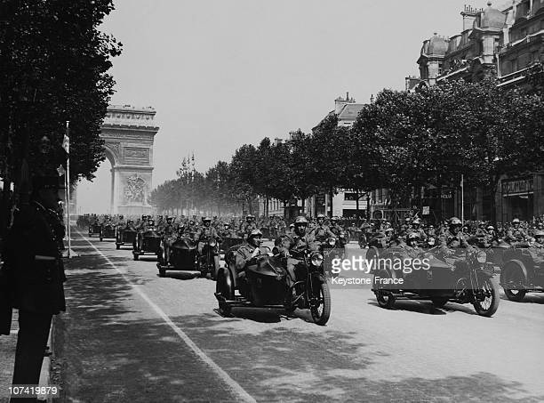 July 14Th Parade At Champs Elysees In Paris On 1938