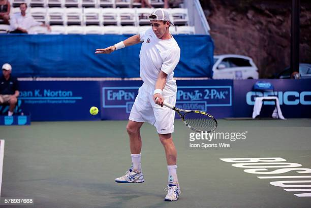 Austin Aces JP Smith The Boston Lobsters defeated the Austin Aces 2018 in a World Team Tennis match at Boston Lobsters Tennis Center at the...