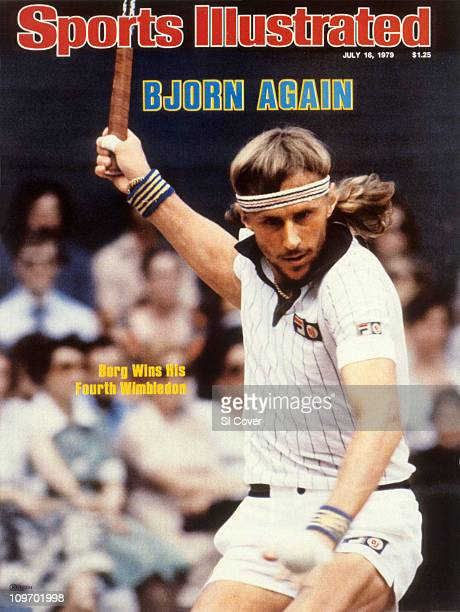 Tennis Wimbledon Sweden Bjorn Borg in action during match at All England ClubLondon England 6/30/1979CREDIT Tony Duffy