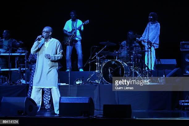 July 16 2007 Conde Duque Quarter Madrid Spain Singer Youssou N'Dour oncerto in the festival Villa's Summer