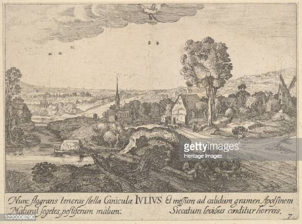 July, 1628-29. Artist Wenceslaus Hollar.