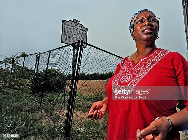 July 17, 2009 Black cemeteries in Old Town Alexandria. Char McCargo Bah and Louis Hicks- Dir of Alexandria Black History Museum. Char McCargo Bah...