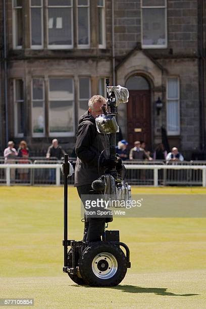 July 17, 2010: A BBC cameraman on a specially designed motorised rig during the third round of The Open Championship played on The Royal and Ancient...