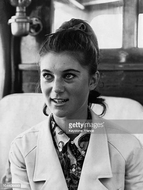 July 17th 1966 SHEILA french pop singer who tops the list is pictured on board a motor boat off Cannes Her Cannes fans hed the premiere of her new...