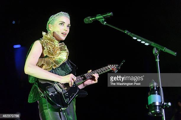 COLUMBIA MD July 17th 2014 St Vincent performs at Merriweather Post Pavilion opening for Queens of the Stone Age Her performance included songs such...