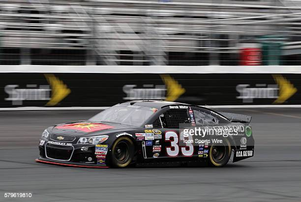 Derek White Sprint Cup driver of the Braille Battery / Grafold Chevrolet during practice for the 5hour ENERGY 301 at New Hampshire Motor Speedway in...