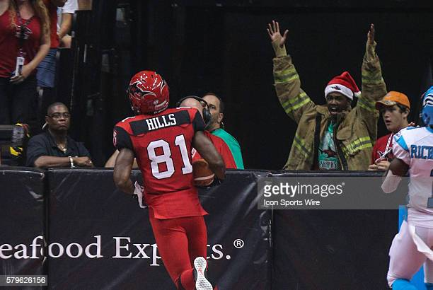 during the game between the Philadelphia Soul and the Jacksonville Sharks at Jacksonville Veterans Memorial Arena in Jacksonville Fl
