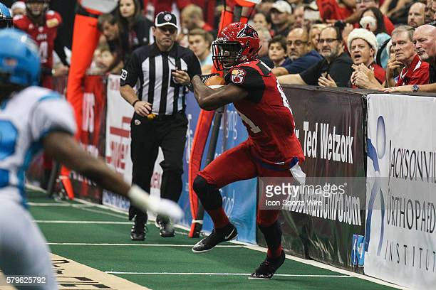 Jacksonville Sharks wide receiver Joe Hills during the game between the Philadelphia Soul and the Jacksonville Sharks at Jacksonville Veterans...