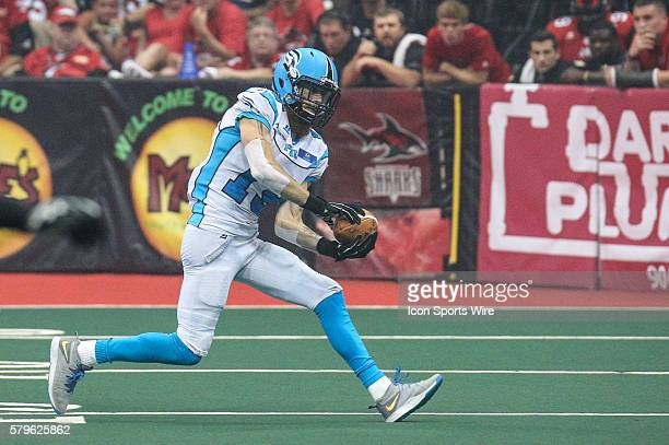 Philadelphia Soul wide receiver Ryan McDaniel makes a catch during the game between the Philadelphia Soul and the Jacksonville Sharks at Jacksonville...