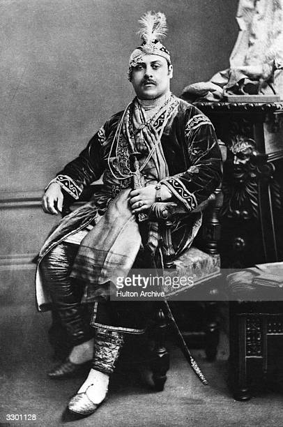 Prince Victor Duleep Singh Prince of India at a fancy dress ball at Devonshire House as the Emperor Akbar the Mogul emperor