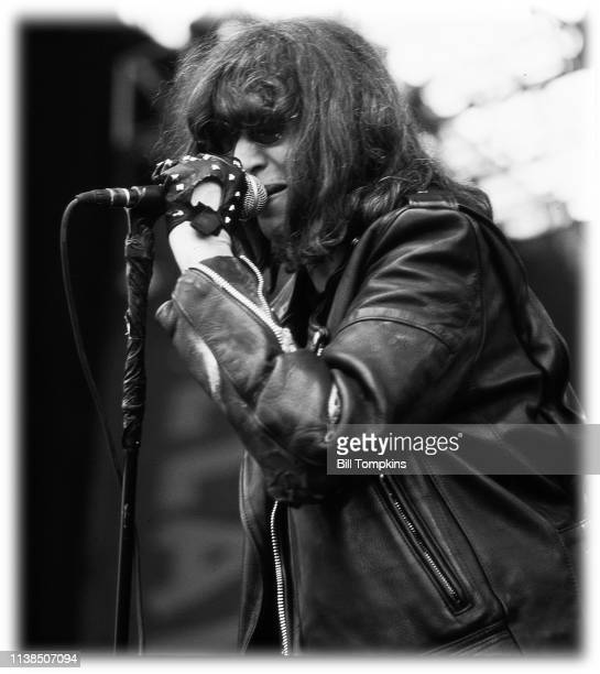 July 19, 1996]: Joey Ramone, lead singer of The Ramones performs on July 19, 1996 in Quebec City, Canada.