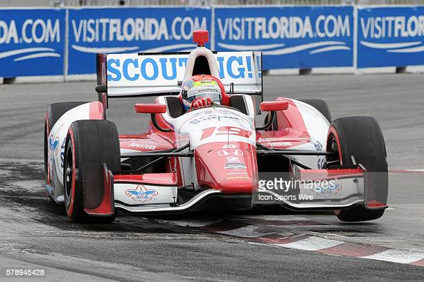 IndyCar Driver Justin Wilson of England in qualifying during the Honda Indy Toronto Race 1 at Exhibition Place Toronto ON
