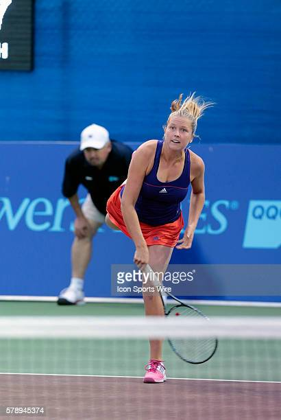 Washington's Shelby Rogers The Washington Kastles defeated the Boston Lobsters 238 in a World Team Tennis match at Boston Lobsters Tennis Center at...