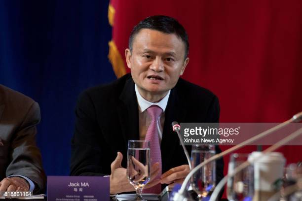 C July 19 2017 Jack Ma founder and chairman of Chinese ecommerce giant Alibaba attends the 2017 ChinaUS Business Leaders Summit in Washington DC July...