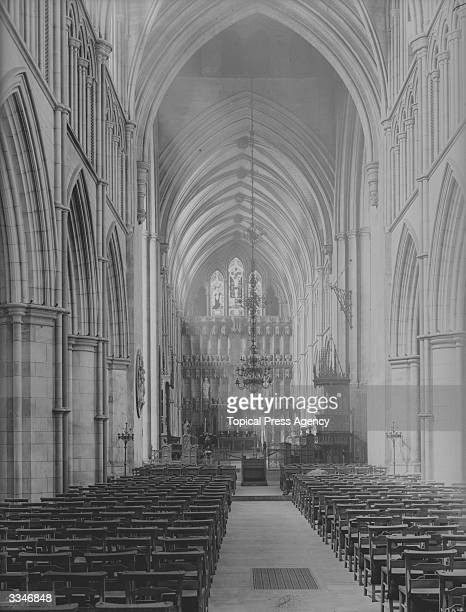 The nave of Southwark Cathedral, London.