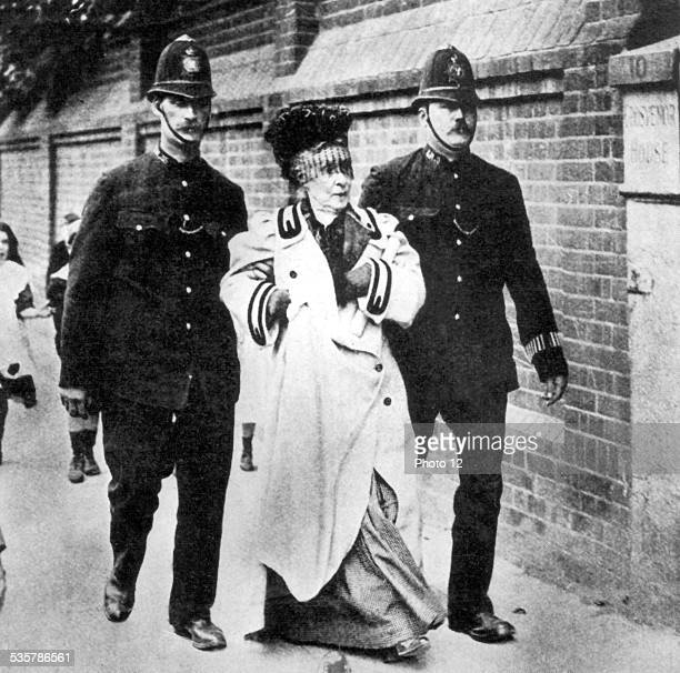 An Irish suffragette is arrested for having shouted 'I represent Tipperary' during Lloyd George's speech at Kennington theatre Great Britain
