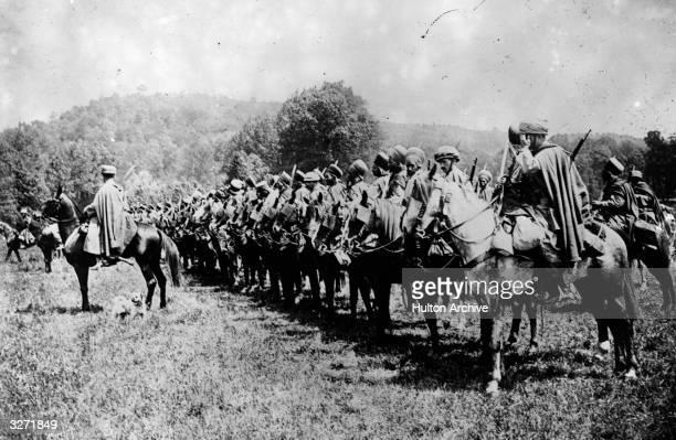 Algerian cavalry ready for the firing line