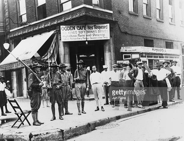 National Guardsmen are called out to quell race riots in Chicago