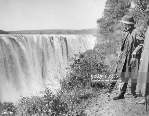 The Prince of Wales at the Victoria Falls during his 1925 African tour.