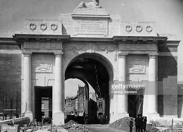 The Great Ypres Arch later known as the Menin Gate after the removal of its scaffolding