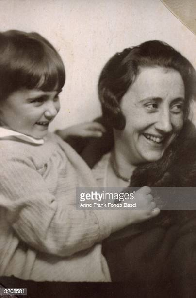 EXCLUSIVE Edith Frank holding her daughter Margot Frank older sister of Anne Frank From Margot Frank's photo album