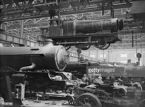 Locomotive shells at the Great Western Railway works in Swindon