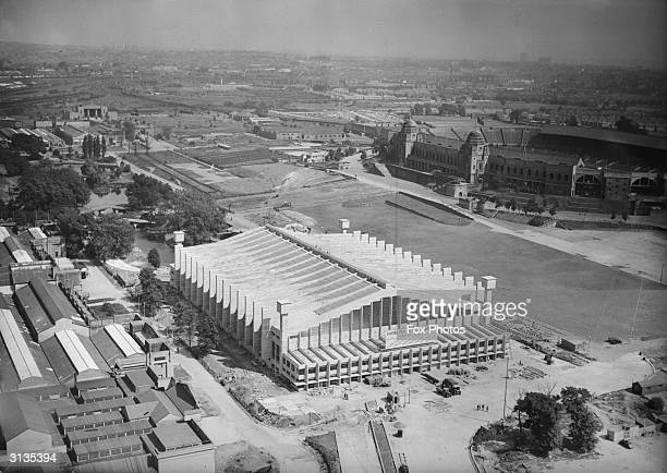 The newlyconstructed Empire Pool and Sports Arena at Wembley next to Wembley stadium London