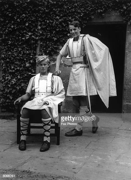 Schoolboy Prince Philip of Greece in costume for his school Gordonstoun's production of Macbeth He later became Prince Philip Duke of Edinburgh