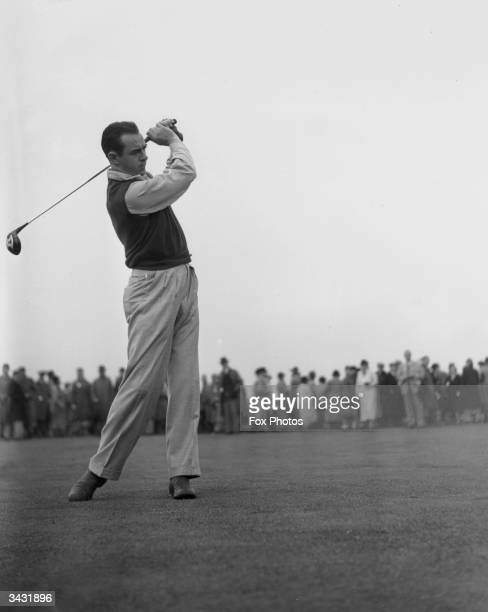 American golfer Sam Snead at the British Open in Carnoustie Scotland