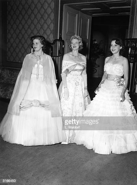 A 'Coming Out' ball given at the Hurlingham club by the Marchioness of Dufferin and Ava Lady Dufferin with her daughters Lady Perdita Blackwood and...