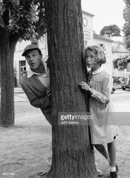 American actor Gene Kelly with French actress Brigitte Fossey