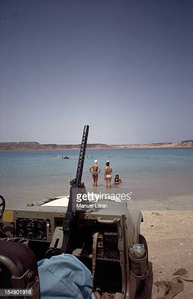 July 1967 after the 'Six Day War' Israel tripled its surface area The new borders of the Hebrew state At Sharm ElSheikh swimming in the Red Sea under...
