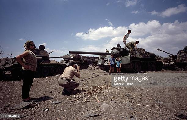 July 1967 after the 'Six Day War' Israel tripled its surface area The new frontier of the Hebrew state Tanks of Russian origin of the Syrian army are...