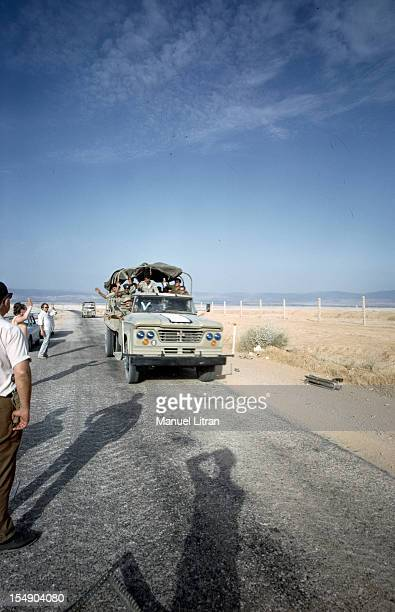 July 1967 after the 'Six Day War' Israel tripled its surface area The new frontier of the Hebrew state On a deserted road the people welcomed the...
