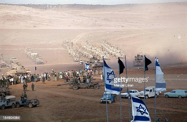July 1967 after the 'Six Day War' Israel tripled its surface area The new frontier of the Hebrew state In a desert landscape the population faces the...