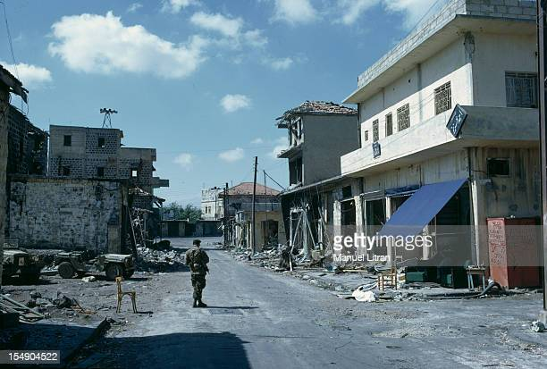 July 1967 after the 'Six Day War' Israel tripled its surface area The new frontier of the Hebrew state In a deserted city an Israeli soldier stands...