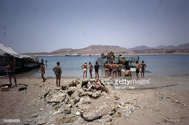 July 1967 after the 'Six Day War' Israel tripled its surface area The new frontier of the Hebrew state The people witnessed the arrival of a barge...