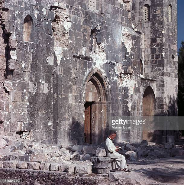July 1967 after the 'Six Day War' Israel tripled its surface area The new frontier of the Hebrew state A man sitting with a book at the foot of a...