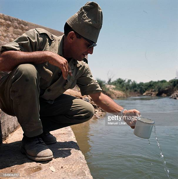 July 1967 after the 'Six Day War' Israel tripled its surface area The new frontier of the Hebrew state An Israeli soldier is refreshed in the waters...