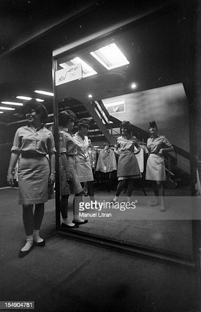 July 1967 just weeks after the 'Six Day War' Israel tripled its surface area The new frontier of the Hebrew state Israeli girls in skirts looking in...