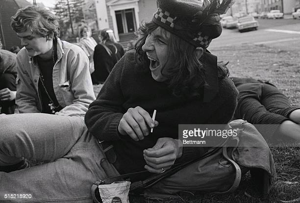 July 1967San Francisco CaliforniaA hippie at a happening called the HumanBeIn at a gathering on the polo field of San Francisco's Golden Gate Park